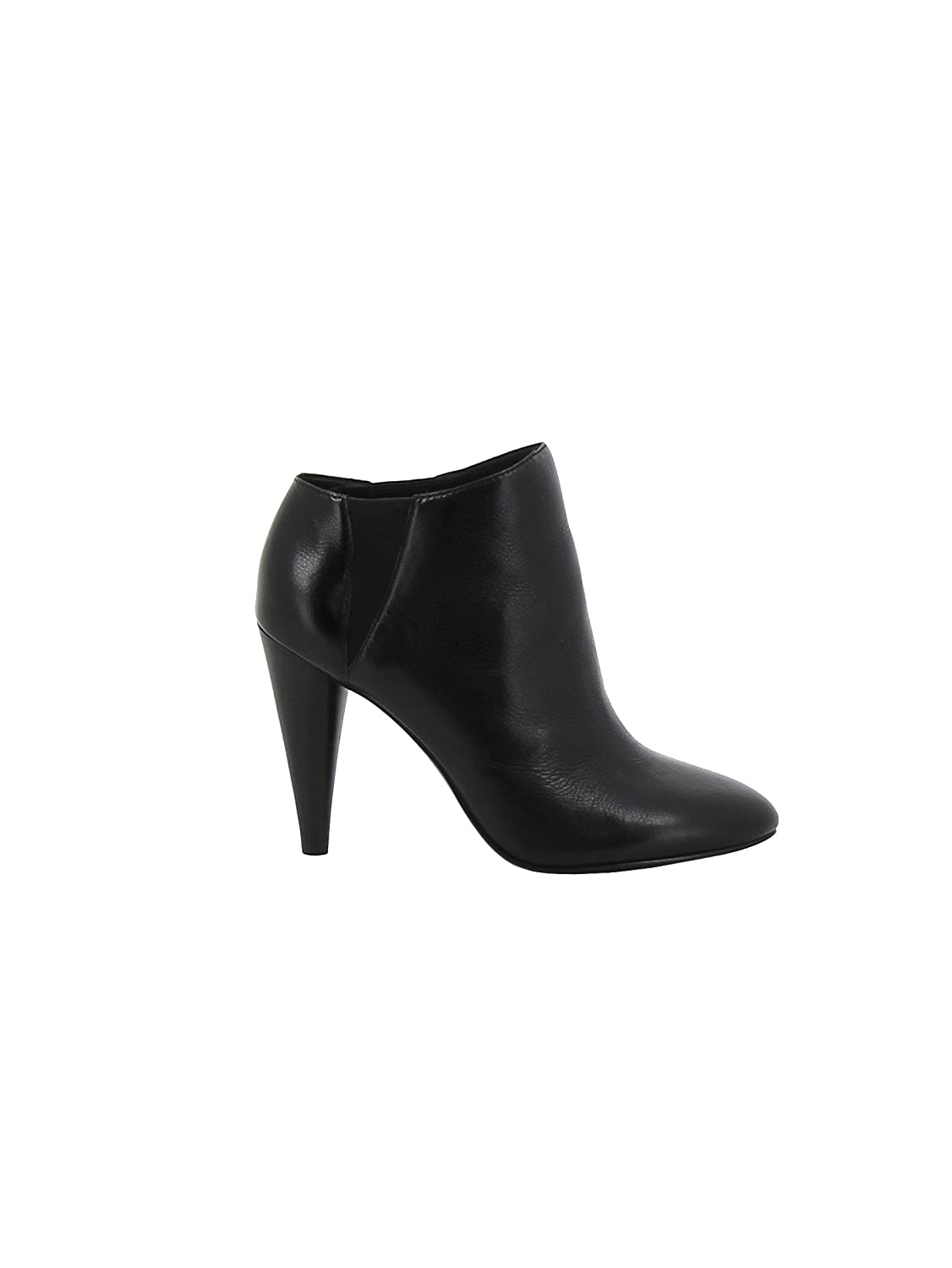ASH WOMEN'S BEVERLY003 BLACK LEATHER ANKLE BOOTS