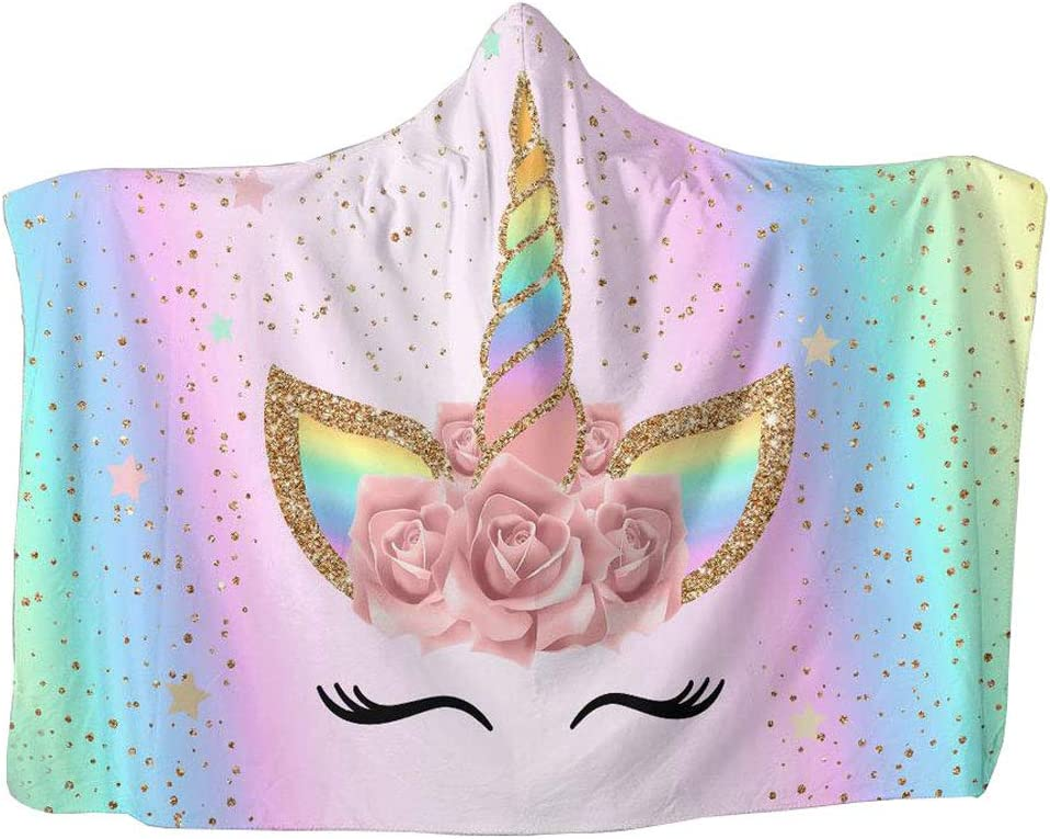 Cusphorn Unicorn Print Throw Blanket Smooth Soft Blanket for Sofa Chair Bed Office Travelling Camping for Kids Adults 59 by 78