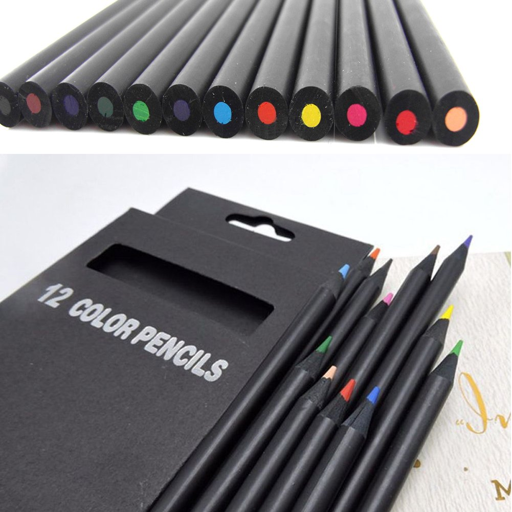 WERTAZ carbone matita set 12PCS colorato disegno schizzo a matita arte kit per principianti, bambini o qualsiasi Aspiring Artist Drawing set, Multi Color, 12 pz