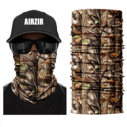 Airzir Outdoor Camo Face Mask, Breathable Seamless Tube Dust-proof Windproof UV Protection Motorcycle Bicycle ATV Face Mask for Motorcycling Cycling Hiking Camping Climbing Fishing Hunting(Tcamo-619) ()