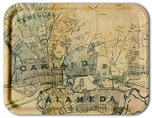 Trays4Us Oakland-Alameda 1884 16x12 inches (Large) Map Serving Tray - 70+ Different Designs