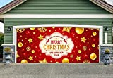Happy Holidays Merry Christmas for 2 Car Garage Door Covers Banners Outdoor Billboard Decor Garage Door Full Color 3D Print Decorations House Murals size 82x188 inches DAV213
