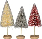 Primitives By Kathy Bristle Glitter Wire Sisal Tree Set Of 3 Christmas Decor