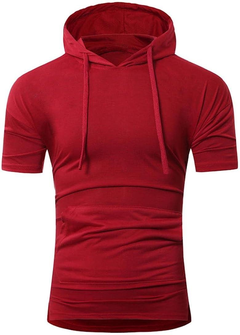 Magiftbox Mens Hipster Hip Hop Workout Short Sleeve Hoodies ...