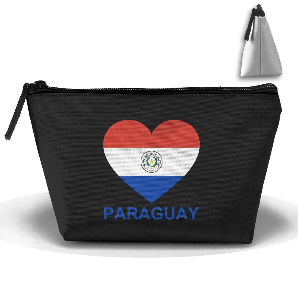 Love Paraguay Trapezoid Travel Storage Pouch Clutch Bag Organizer