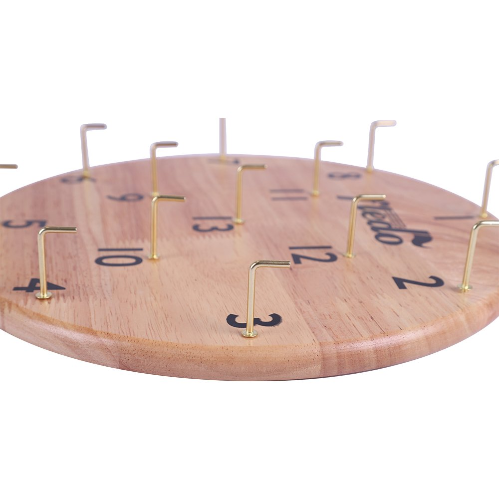 Fledo Hookey Ring Toss Game - Indoor & Outdoor Games,For Kids & Adults -Deluxe Funny & EducationalToss GameSet withGame Board,13 Metal Hooks and 12 Rubber Rings by Fledo (Image #2)