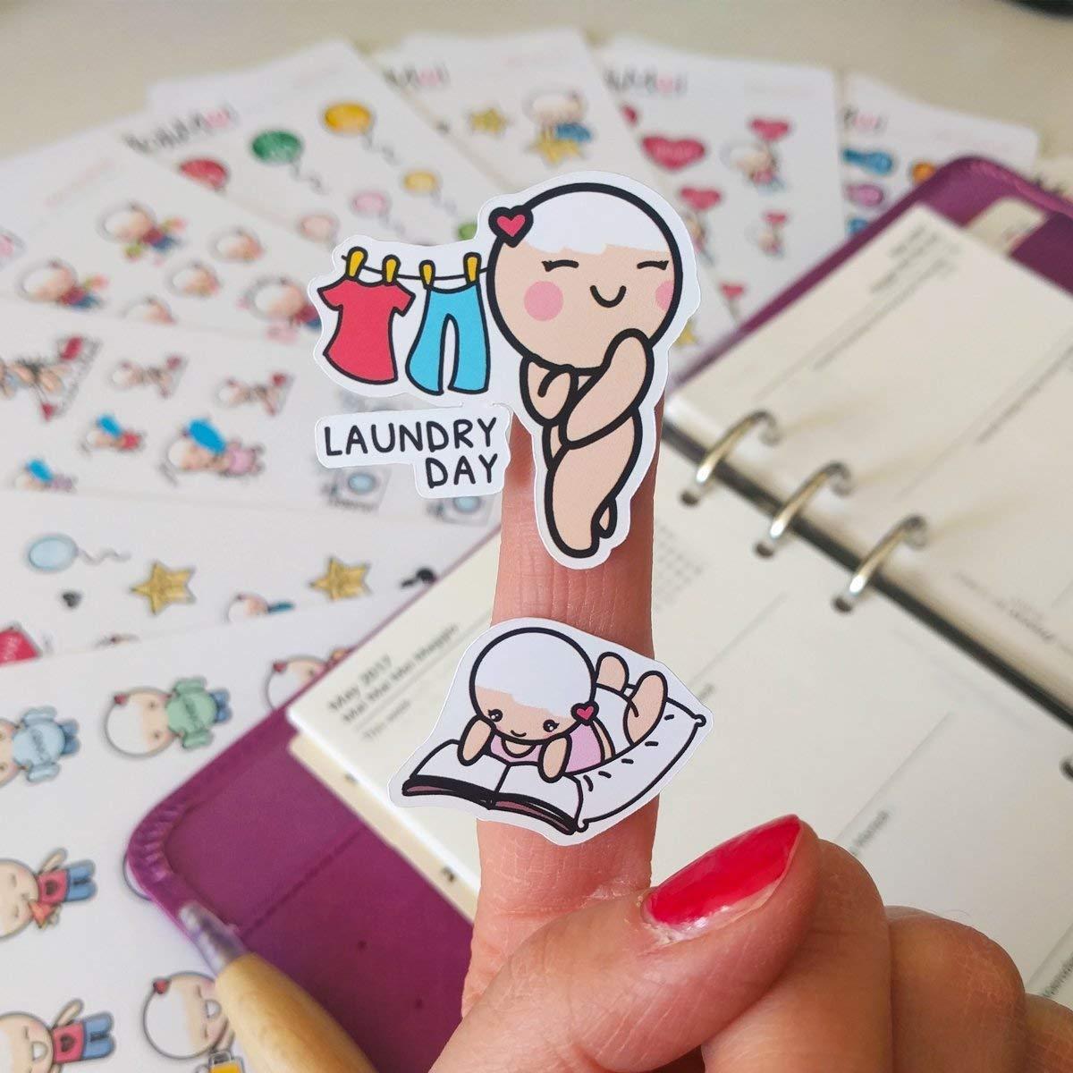 Starting Kit MIX PACK Small Kawaii Planner Stickers Fitness Motivational /& Funcional Plum Stickers Kikki Stickers Mood Filofax Stickers Erin Condren Stickers Stickers for Life Planner Sport