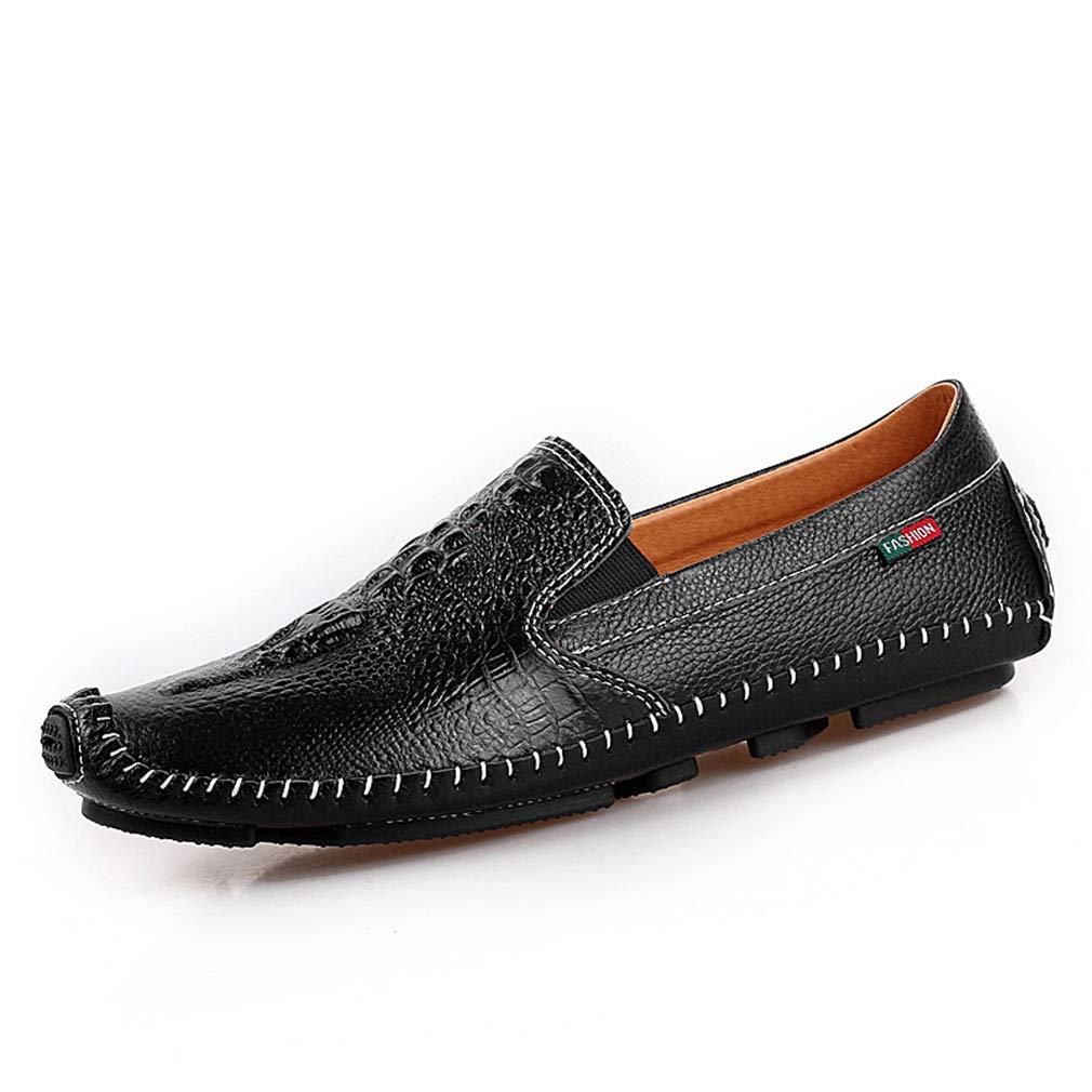 YAN 2018 Zapatos De Hombre De Cuero Verano/Otoño Mocasines Y Slip-Ons Negro/Marrón/Azul/Zapatos De Cuero Mocasines Comodidad, B,41: Amazon.es: Ropa y ...