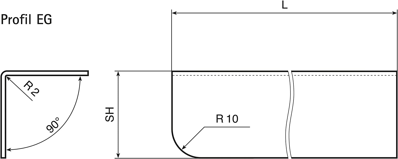 MS Beschl/äge/® Eckschutzwinkel aus Edelstahl Kantenschutz V2A Schenkel 20mm x 20mm L/änge 1500mm Gerade
