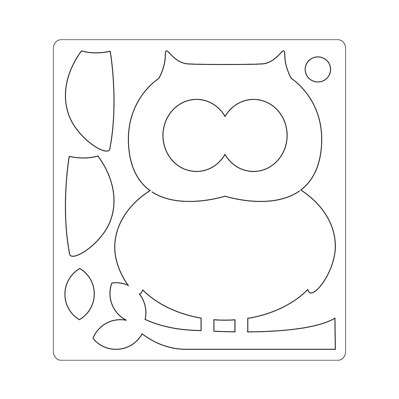 ABS Plastic 17.4x14x1.9 cm Multicolore Sizzix 660785 Fustella Bigz Gufo di Lori Whitlock