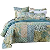 Comforbed Retro Comforter Set Floral Paisley Printed Pattern 100 Cotton Patchwork Bedspreads Quilt
