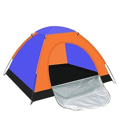 Tente Instantanée Camping Tente 3-4 Personne,Blue-L