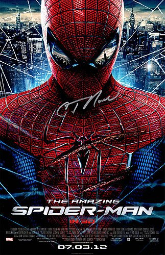 C. Thomas Howell Signed The Amazing Spiderman 11x17 Movie Poster - Celebrity Memorabilia