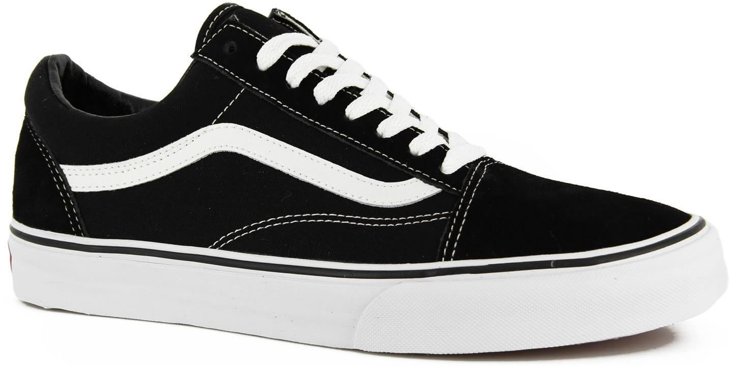 Vans Unisex Old Skool Skate Shoe (12 D(M), Black/White)
