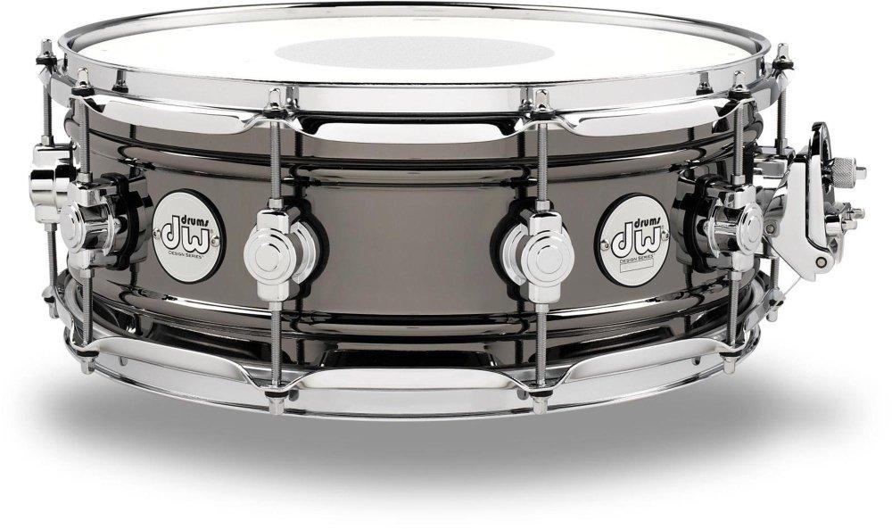 DW Design Series Black Nickel over Brass Snare Drum 14x5.5 Inch by DW (Image #1)