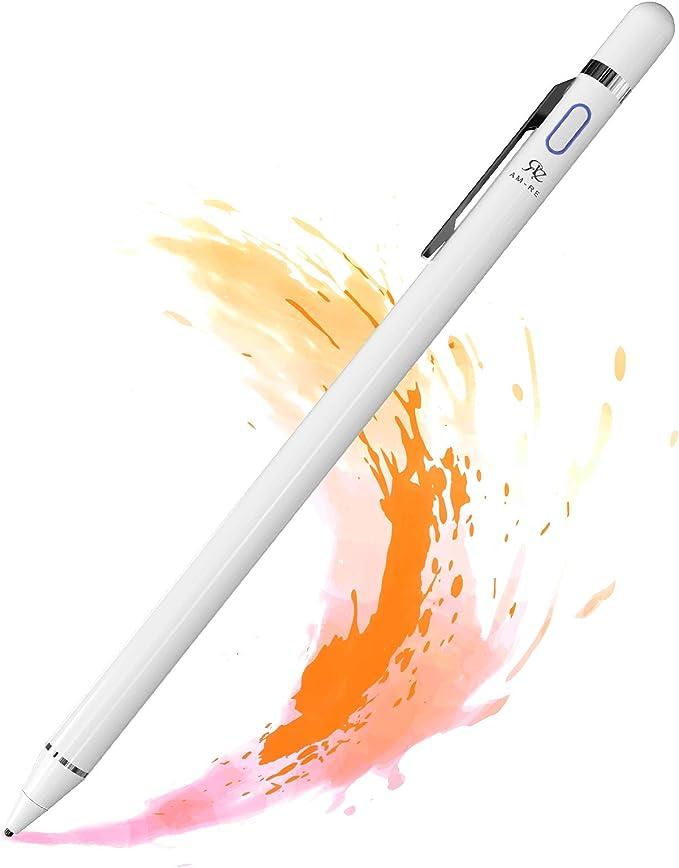 RE Lápiz Táctil Pantalla para iPad iPhone Tabletas Teléfonos Móviles, Punta fina1.5 mm, 10 Horas Tiempo de Uso, Recargable, una Alternativa al Pencil Original, Anotar Dibujar Escribir: Amazon.es: Electrónica