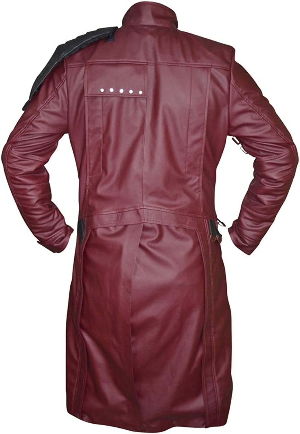 SRHides Mens Galaxy Fashion Real Leather Guardians Coat