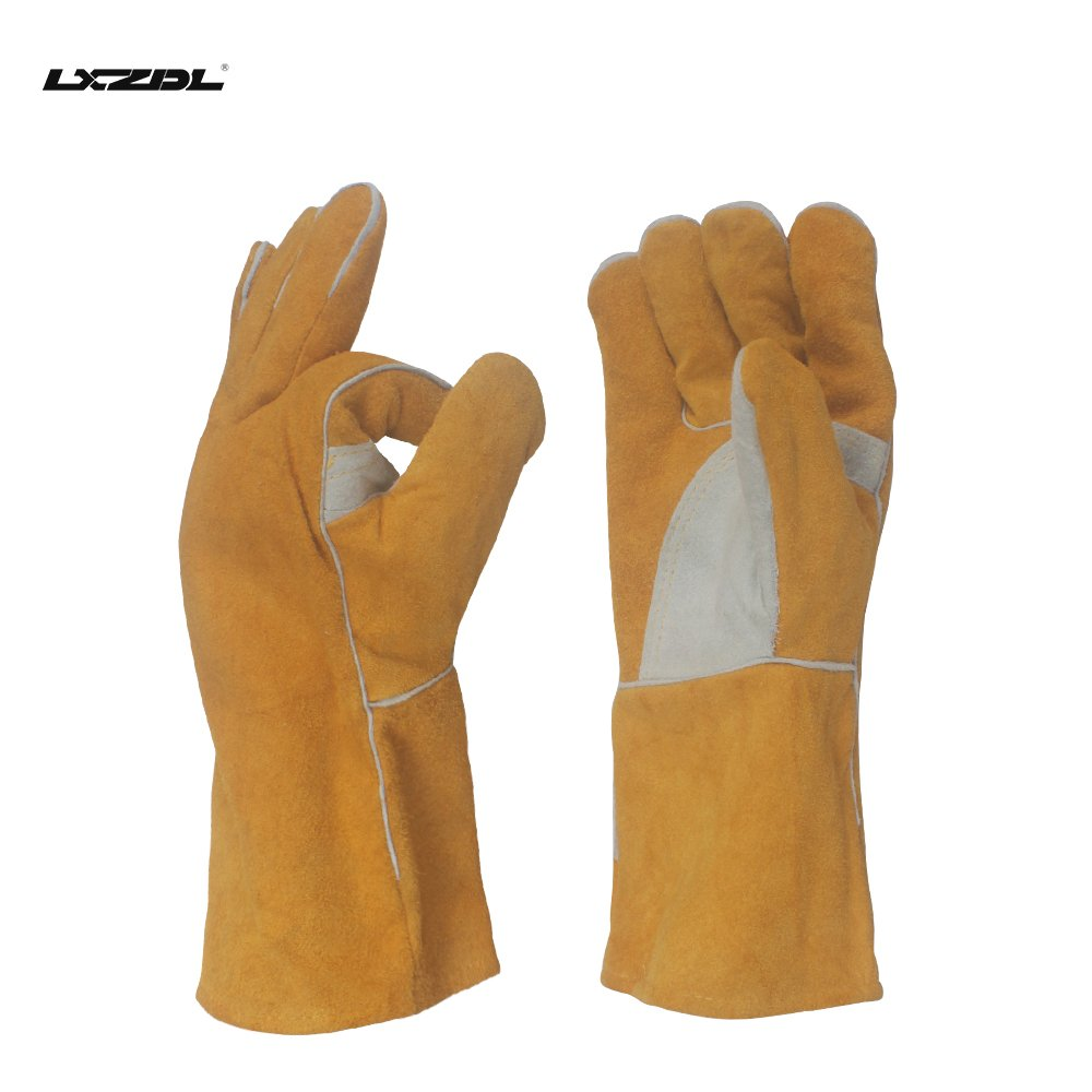 LXZDL-Rose Pruning Gloves for Men and Women. Thorn Proof Leather Gardening Gloves with Long Gauntlet to Protect Your Arms Until the Elbow - Medium