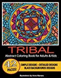 Tribal Abstract Coloring Book for Adults & Kids