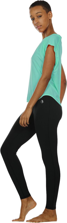 icyzone Yoga Tops Activewear Raglan Workout Tank Tops Fitness Sleeveless Shirts for Women
