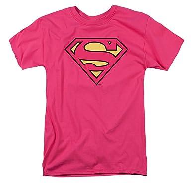 23e0a376 Amazon.com: DC Comics Men's Superman Classic Logo T-Shirt Hot Pink ...