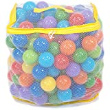 Wonder Playball 200 Non-Toxic Crush Proof Quality Pit Balls w/ Mesh Bag: 8 Colors