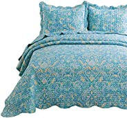 Bedsure Printed Quilt Set - Lightweight Microfiber Bedspread Coverlet Quilt for Summer