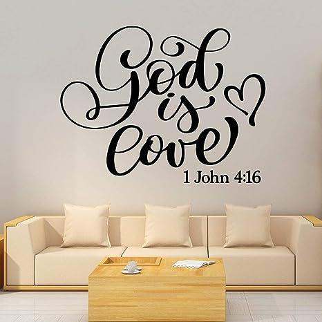 Ajcwhml Dios Divertido Es Frase De Amor Decoración Del Hogar
