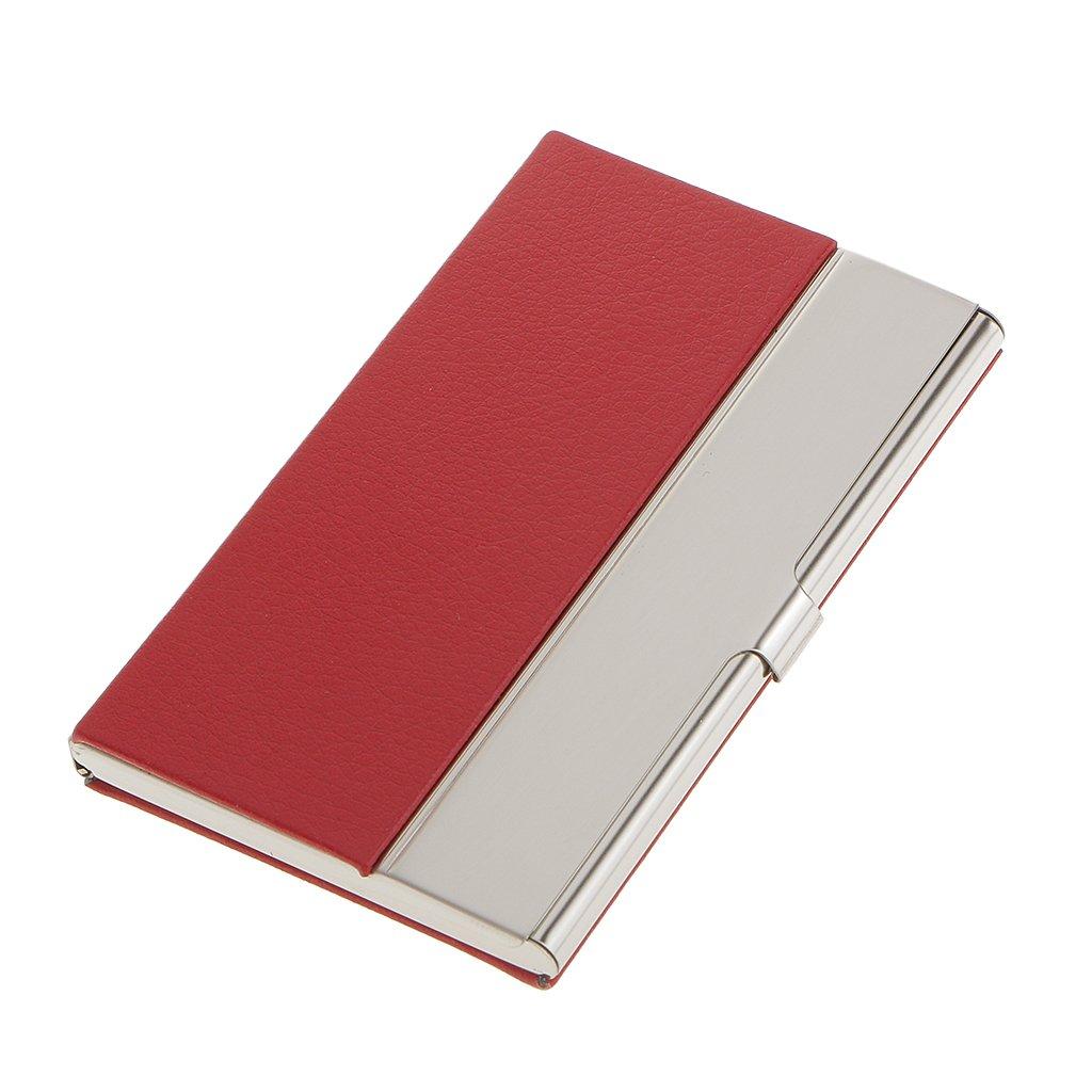 Boîte de Carte de Visite en Acier Inoxydable Carte Box Organisateur Porte-carte - Brun, l Generic STK0157006274