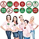 Big Dot of Happiness Ugly Sweater Contest Awards - Holiday & Christmas Party Funny Name Tags - Party Badges Sticker Set of 12