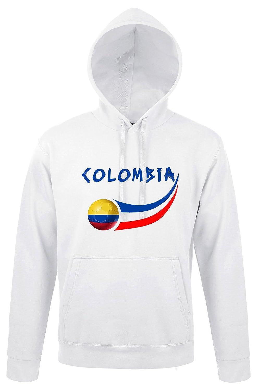 Supportershop Sweatshit a Cappuccio Colombia Uomo, Bianco, FR: 2XL (Taglia Produttore: XXL) SUPQM|#Supportershop 5060542522045