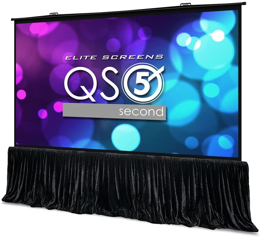 Elite Screens QuickStand 5-Second Series, 180-INCH 16:9, Manual Pull Up Projector Screen, Movie Home Theater 8K / 4K Ultra HD 3D Ready, 2-YEAR WARRANTY, QS180HD