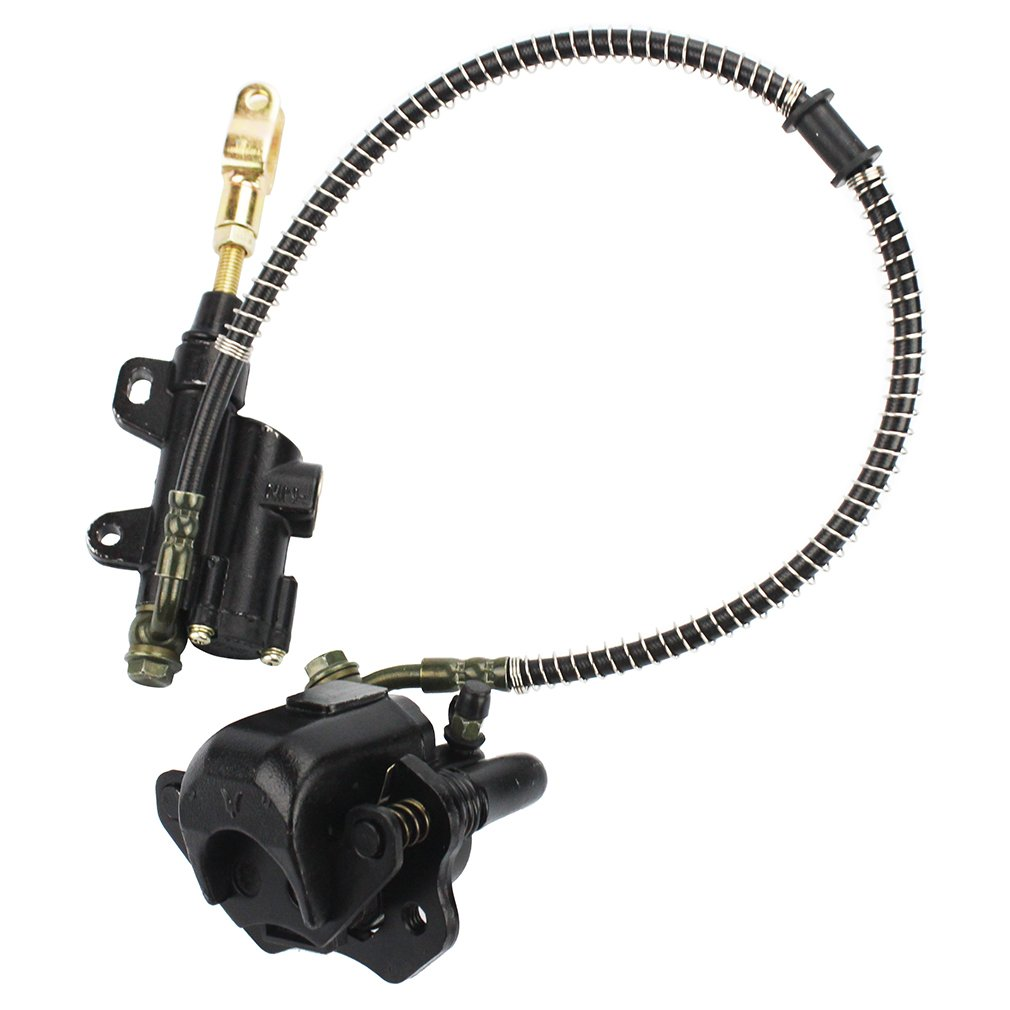 GOOFIT Rear Brake Master Cylinder Caliper Assembly for 50cc 70cc 90cc 110cc 125cc Chinese ATV Quad Scooter