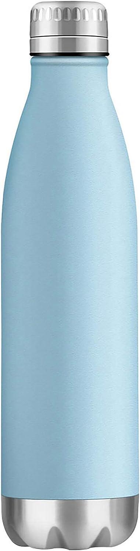 ZOUNICH Botella Agua Acero Inoxidable 350/500/650ml Aislamiento de Vacío de Doble Pared, Sin BPA Botella Termica Reutilizable para Niños, Deporte, Gimnasio