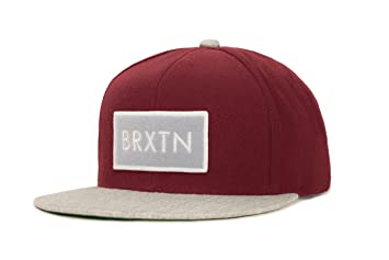 09000c4020a Brixton Rift Cap Snapback Red Burgundy Light Heather Grey Size One Size