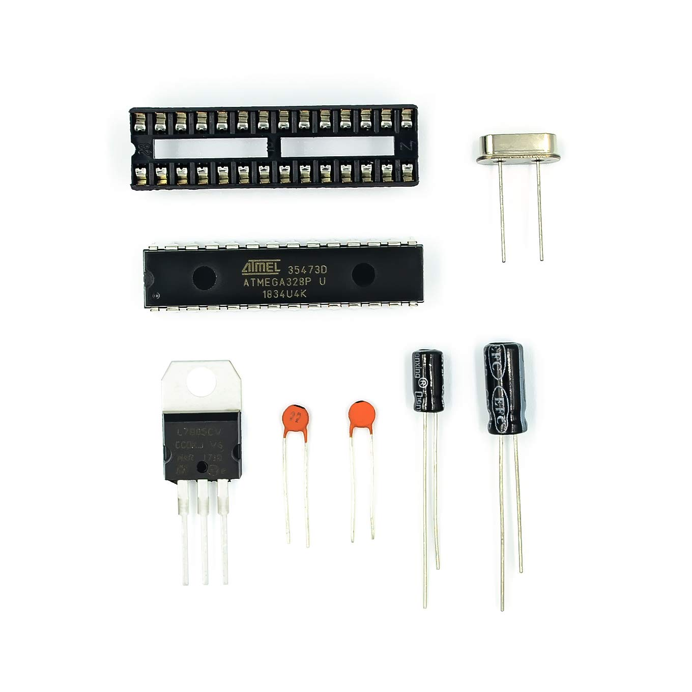 TD-ELECTRO ATMEGA328P-PU Without-Ar duino BOOTLOADER + DIP Socket & 16MHz Crystal KitGood Quality Good Price by TD-ELECTRO