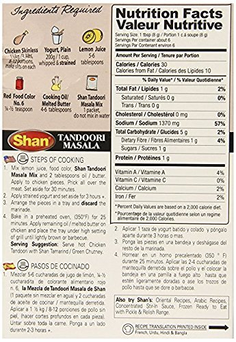 Amazon.com : Shan Tandoori Masala for BBQ Chicken - 6 Pack (1.76 Oz/50g Each.) : Grocery & Gourmet Food
