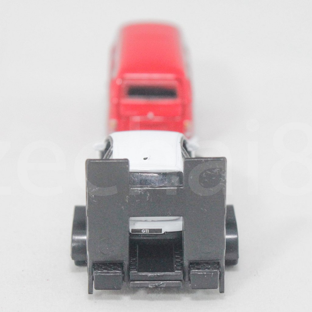 Welly 1:87 Die-Cast Volkswagen Off-Roader Trailer Car Red White Model Collection