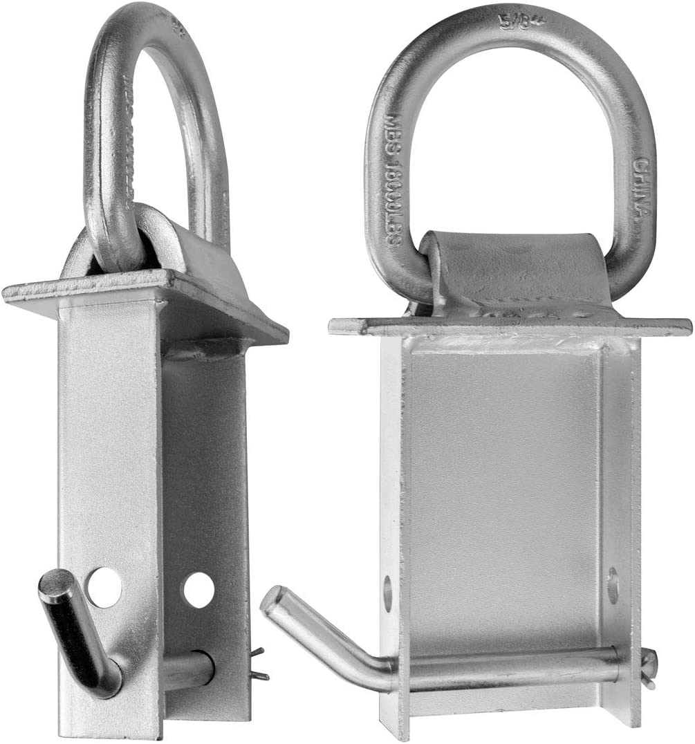 2 Pack VULCAN Silver Stake Pocket D-Ring Assembly