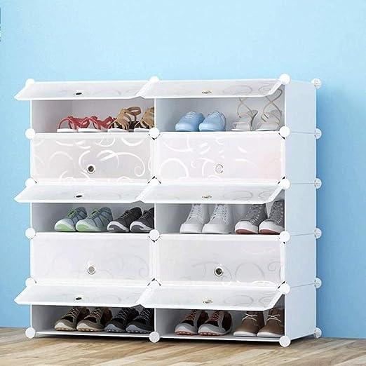 LLRYN Estante para Zapatos, Caja de Zapatos, plástico, apilable, Bricolaje, a Prueba de Polvo, Caja de Almacenamiento, sólida y Duradera, Transparente y fácil de Guardar los Zapatos Blancos: Amazon.es: Hogar