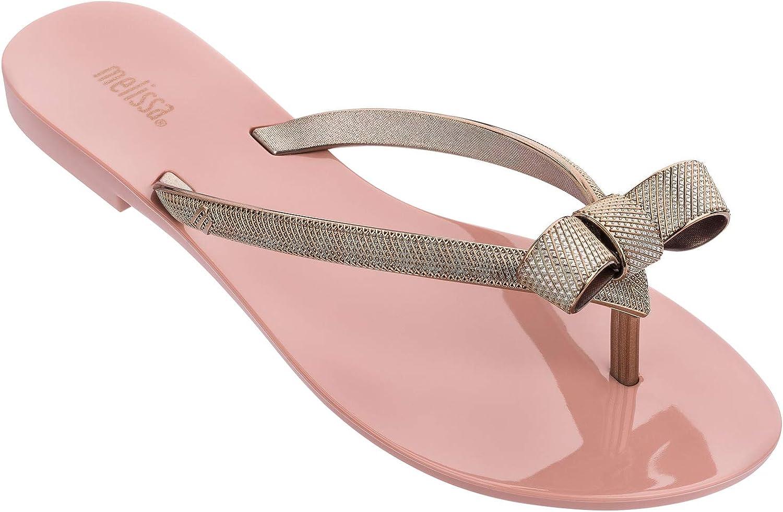 Melissa Womens Harmonic Chrome IV Flip Flop Slippers, Pink/Bronze, Size 7