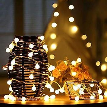 Cadena de Luces LED,GZQ,6m 40 led Guirnalda Luces, Cadena de Iluminacion Bombillas,Luz del ambiente para Navidad Halloween Fiesta de Boda Vacaciones casa ...