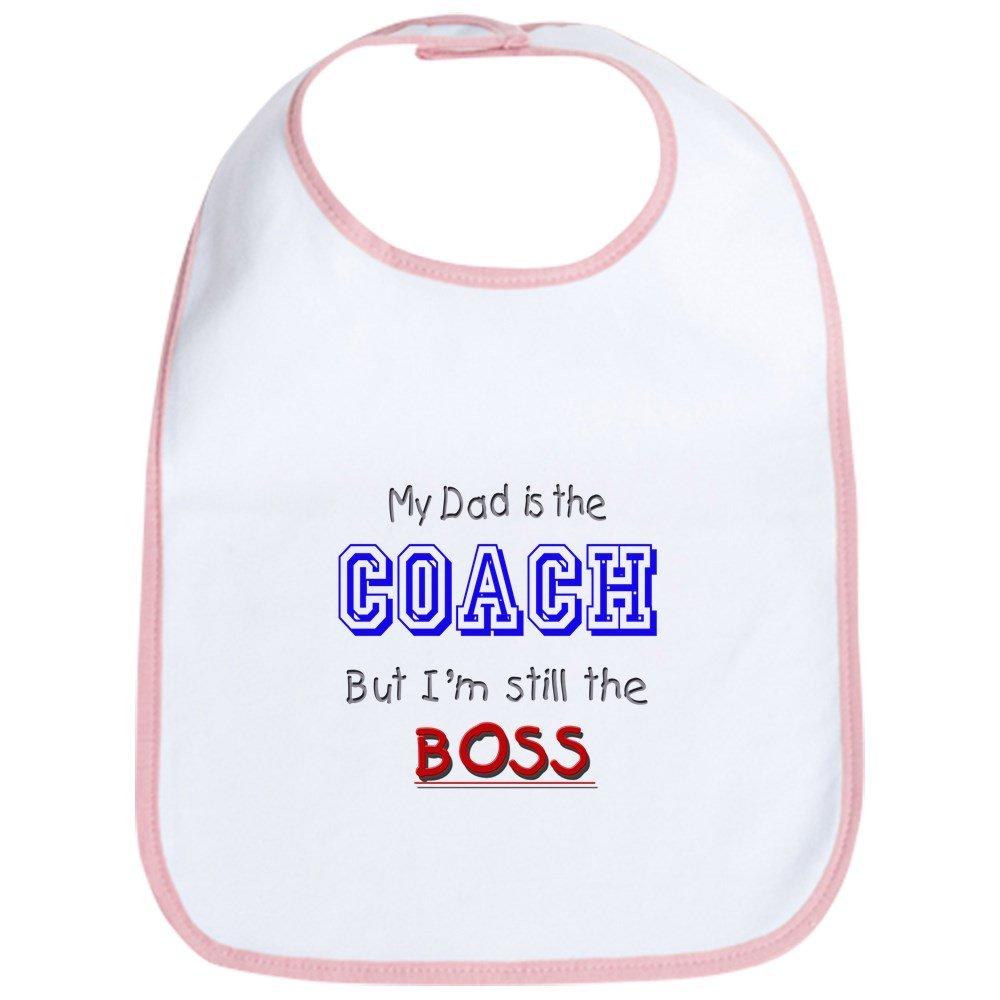 CafePress - My Dad Is The COACH Bib - Cute Cloth Baby Bib, Toddler Bib