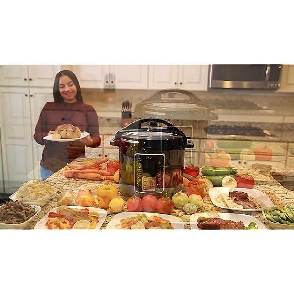Deco Chef 8 QT 10-in-1 Pressure Cooker Instant Rice, Saute, Slow Cook, Yogurt, Meats, Deserts, Soups, Stews Includes… 7