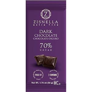 Amazon.com : 1.76Oz DARK CHOCOLATE 12-Pack - 70% Extra-Fine Cacao - Gluten-free, Certified Kosher Dairy, from Zisnella : Grocery & Gourmet Food