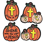Bargain World Color Your Own Christian Pumpkin Fuzzy Magnets (With Sticky Notes)