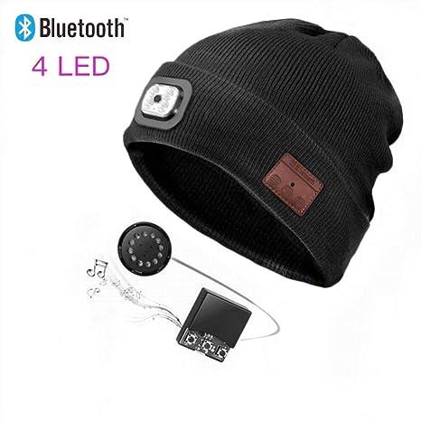 50545ab0fa0 Amazon.com  Bluetooth Beanie Hat with LED Headlight