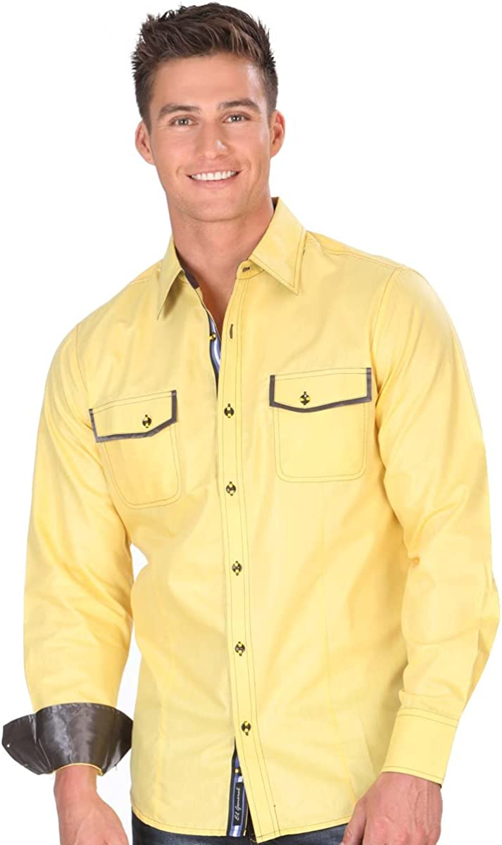 El General Camisa Casual Shirt L//Sleeve 55/% Polyester 45/% Cotton ID 33863 CW1N Yellow