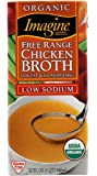 Imagine Organic Free Range Chicken Broth, Low Sodium, 32 Ounce