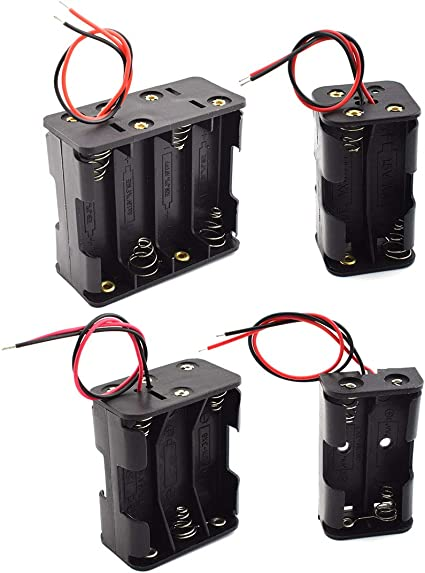 Pack of 2 4 x AA Battery Holder Box